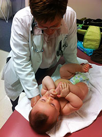 Dr. Casey with baby