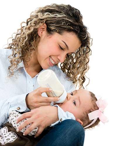 Mother Feeding Baby Formula