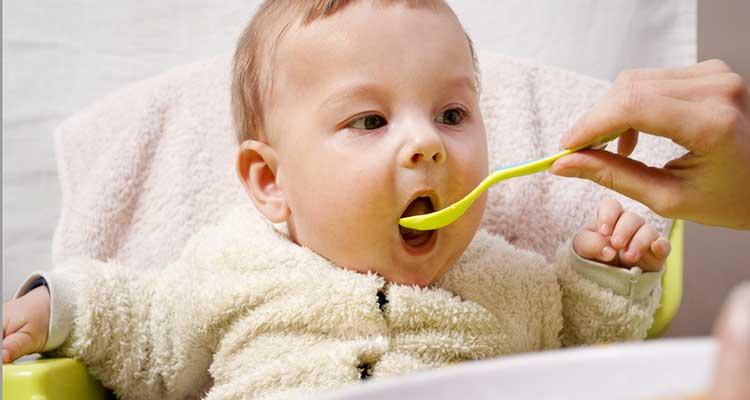 Spoon Feeding a Baby